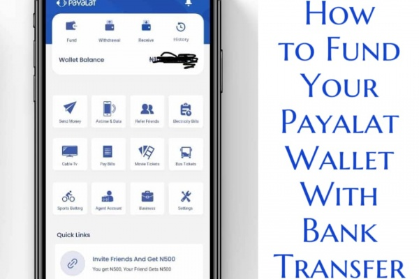 Fund Your Payalat Wallet With Bank Transfer